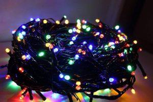 Yılbaşı ışıkları siyah Kablo Hesaplı Dükkan