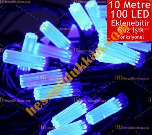 Yılbaşı ürünleri ışıkları mavi 100 led buz Hesaplı Dükkan