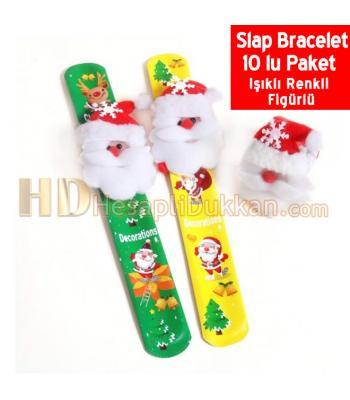 Yılbaşı ışıklı slap bracelet paket satış