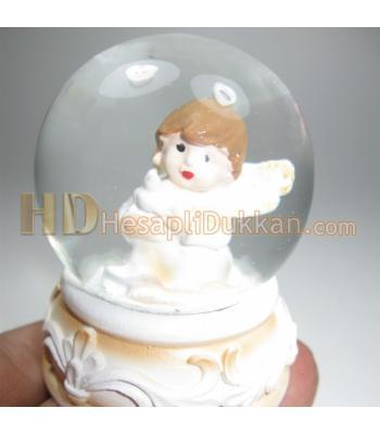Minik melek kar küresi bebek şekeri malzemesi
