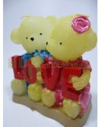 Sevgililer günü için hediyelik minik ayıcık mumlar