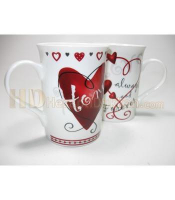 Sevgililer günü kupaları çiftler için