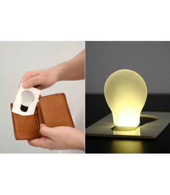 Kredi kartı şeklinde ampül lamba card lamp