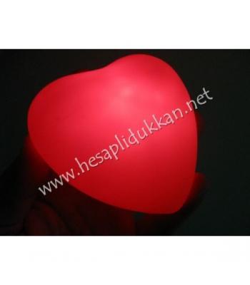 Kırmızı kalp gece lambası sevgililer günü promosyonu