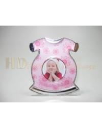 Bebek magnet çeşitleri tulum şeklinde pembe