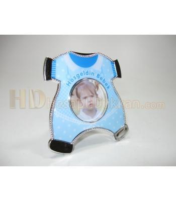 Bebek magnetleri resim çerçeveleri tulum mavi