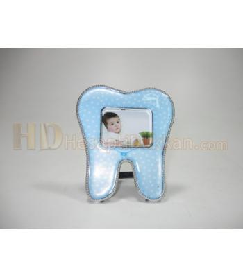 Diş buğdayı magnet resim çerçevesi erkek çocuk puanlı mavi
