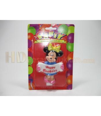 Doğum günü mumları Mini fareli bayraklı