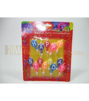 Doğum günü mumları happy birth day balonları