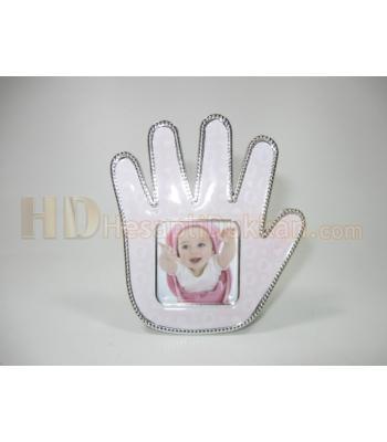 Bebek eli şeklinde megnet çerçeve pembe