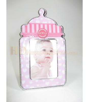 Pembe biberon kız çocukları için buzdolabı süsü