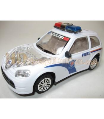 Sirenli ışıklı hareketli oyuncak polis arabası