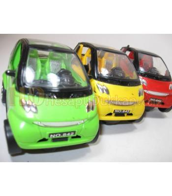Mini renkli müzikli hareketli yuncak arabalar