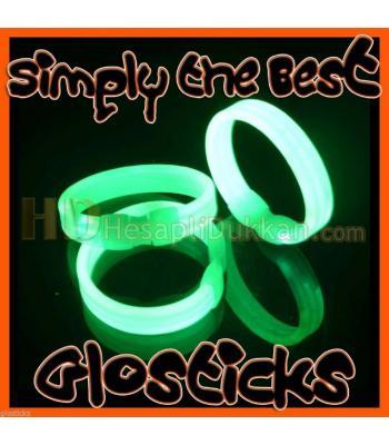Glow ışıklı bilezik üçlü promosyon ürünü