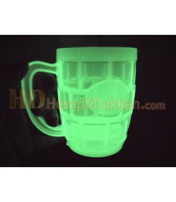 Glow ışıklı bira bardağı