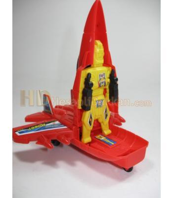 Robot olan uçak promosyon oyuncak