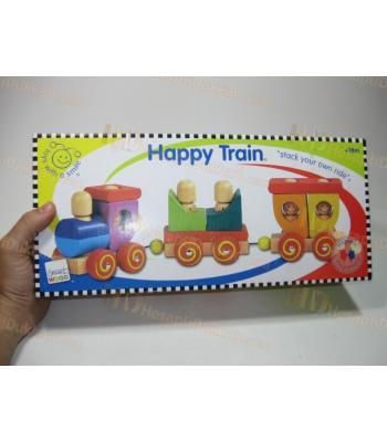 Ahşap eğitici oyuncak tren