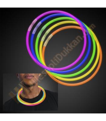Glow ışıklı kolye 58 cm