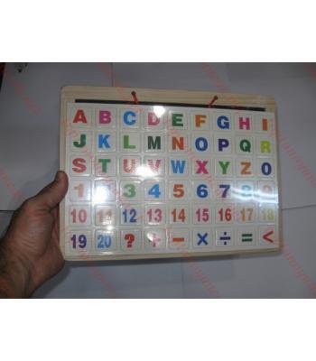 Alfabetik yapıştırmalı yazı tahtası toptan