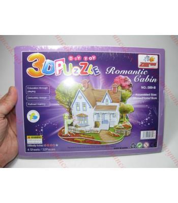 Romantik orman evi toptan karton yapboz