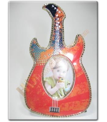 Gitar figürlü bebek buzdolabı magnet resim çerçevesi