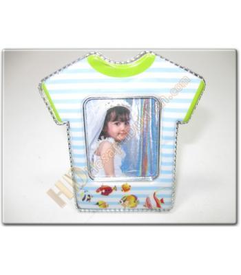Bebek t-shirt figürlü buzdolabı magnet resim çerçevesi