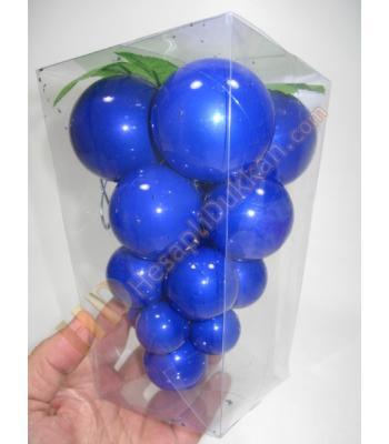 Mavi üzüm salkımı yılbaşı süsleri