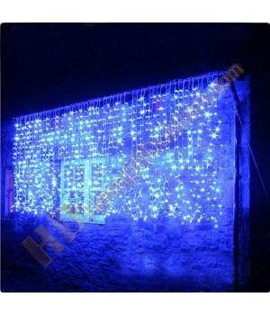 Akar perde yılbaşı ışığı 1 x 1,5 mavi
