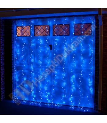 Akar perde dış mekan yılbaşı ışığı mavi SM1397