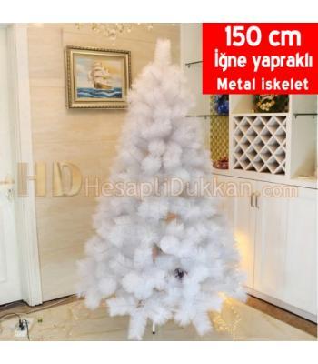 Beyaz yılbaşı ağacı 150 cm iğne yapraklı