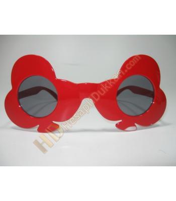 İskambil sineği figürlü parti gözlükleri
