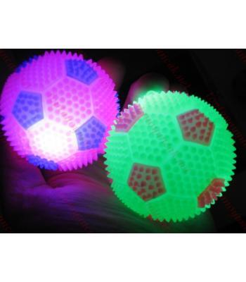 Işıklı kirpi top oyuncak toptan zıplatın ışığı yansın