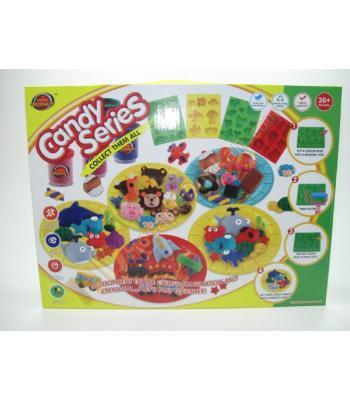 Oyun hamuru oyuncakları seti 18 parça 37 kalıp