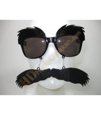 Pala bıyıklı kaşlı parti gözlükleri