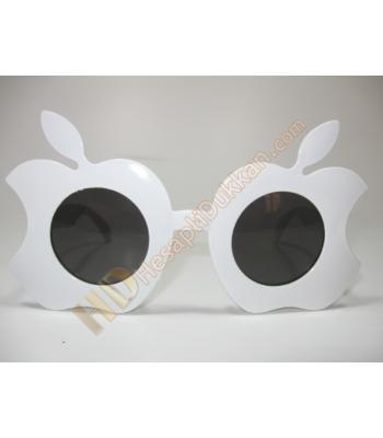 Isırılmış elma parti gözlüğü