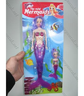 İkili deniz kızı bebek oyuncak toptan