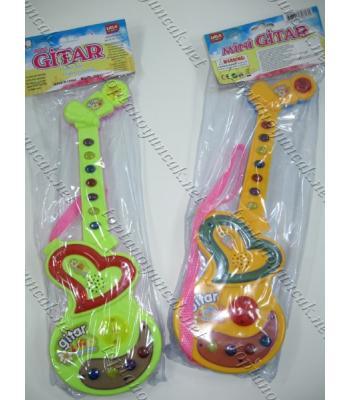 Türkçe şarkılı ışıklı mini oyuncak gitar
