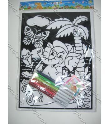 Toptan keçeli kalemli boyama seti