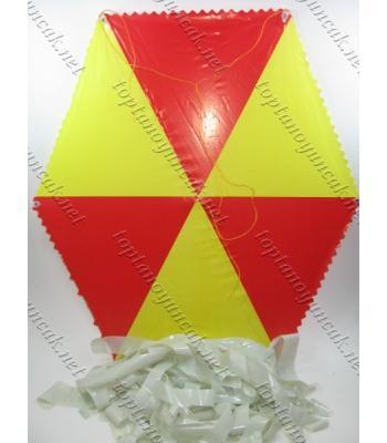 Çıtalı toptan uçurtma sarı kırmızı ip dahil