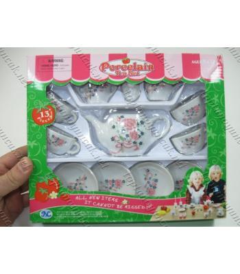 13 parça poselen oyuncak çay seti