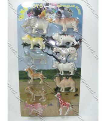 Kartlı plastik hayvan seti TOY1446