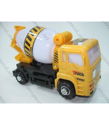 Işıklı iş makinesi beton kamyonu