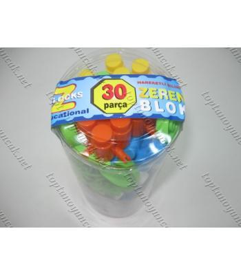 Toptan blok plastik eğitici oyuncak 30 lu