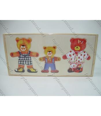 Toptan eğitici oyuncak giydirmeli yapboz TOY1434
