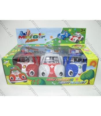 Toptan oyuncak araba seti üçlü TOY1423