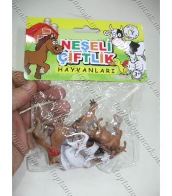 Plastik hayvan seti çiflik hayvanları oyuncak