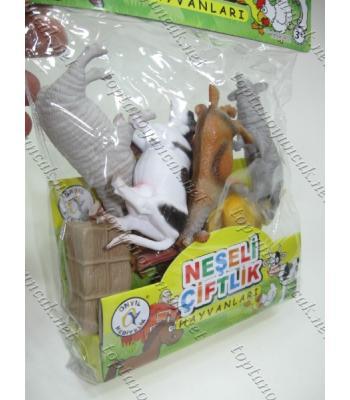 Toptan plastik hayvanlar serisi çiftlik hayvanları