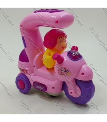 Pembe motosikletli kız ışıklı oyuncak toptan