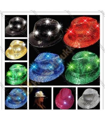 Toptan led ışıklı şapka parti malzemesi