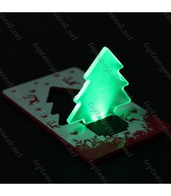 Toptan kredi kartı şeklinde yılbaşı ağacı gece lambası
